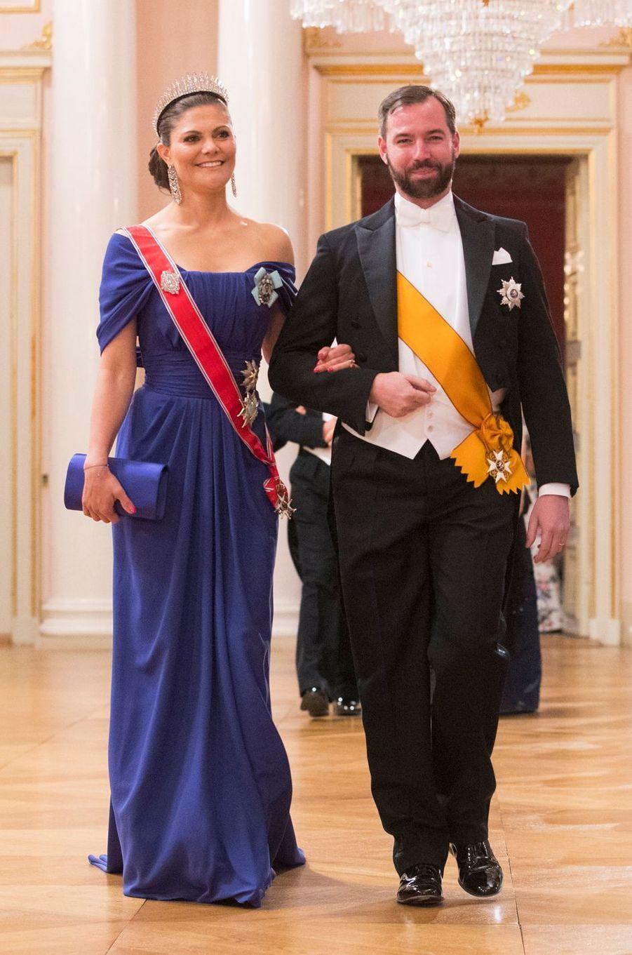 La princesse héritière Victoria de Suède et le grand-duc héritier Guillaume de Luxembourg à Oslo, le 9 mai 2017
