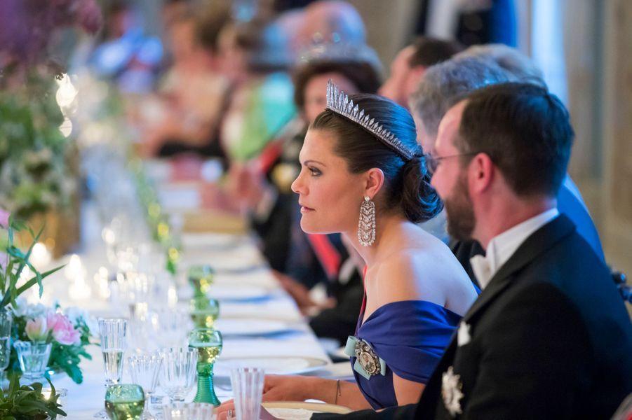 La princesse Victoria de Suède à côté du prince Guillaume de Luxembourg à Oslo, le 9 mai 2017