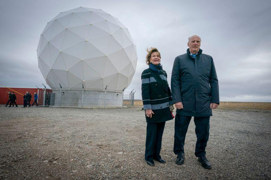 La reine Sonja et le roi Harald V de Norvège à Punta Arenas, le 30 mars 2019