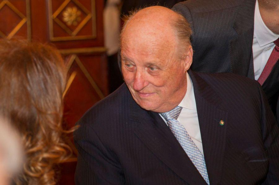 Le roi Harald V de Norvège à Milan, le 8 avril 2016