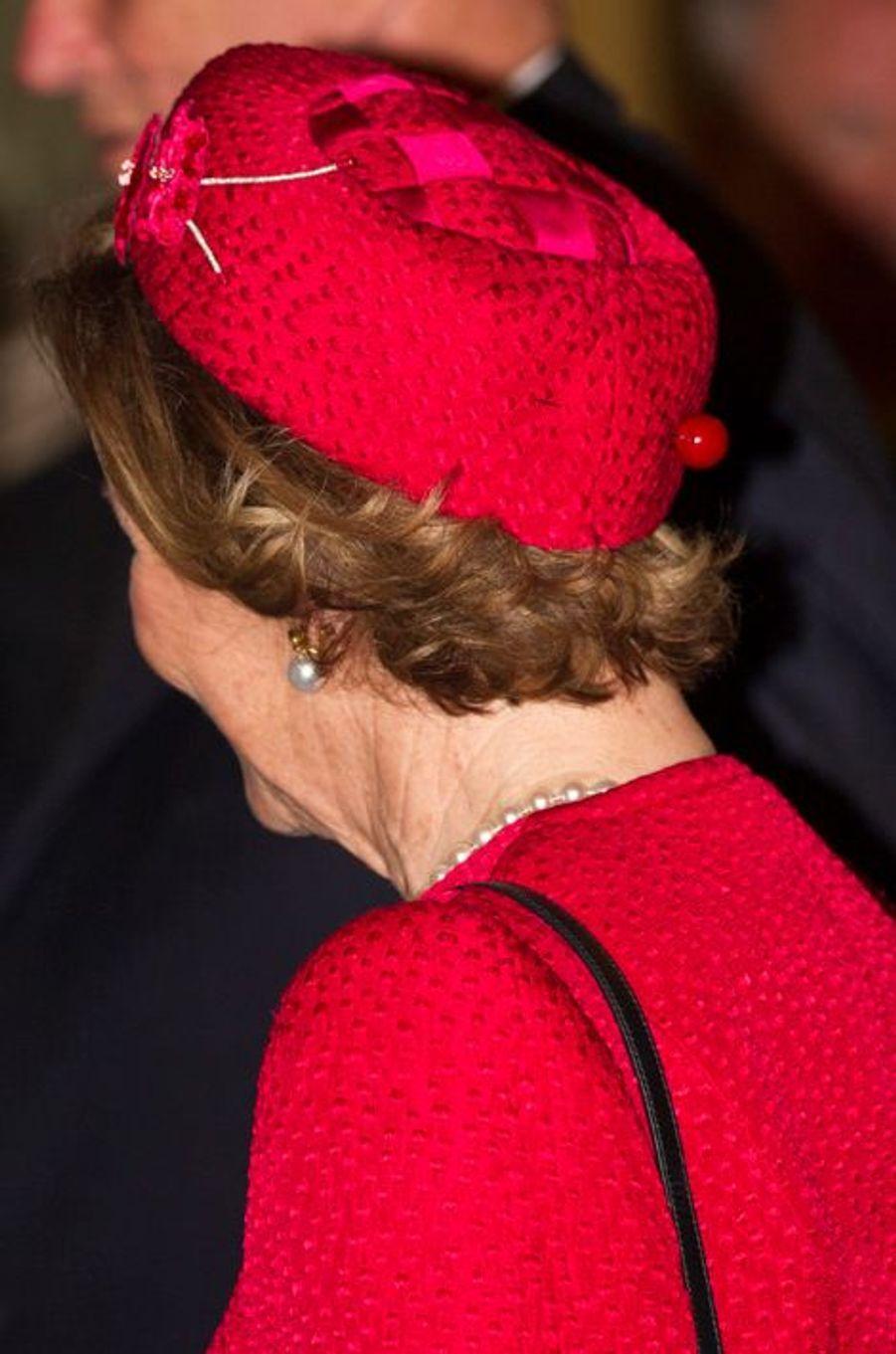 La reine Sonja de Norvège à Rome, le 6 avril 2016