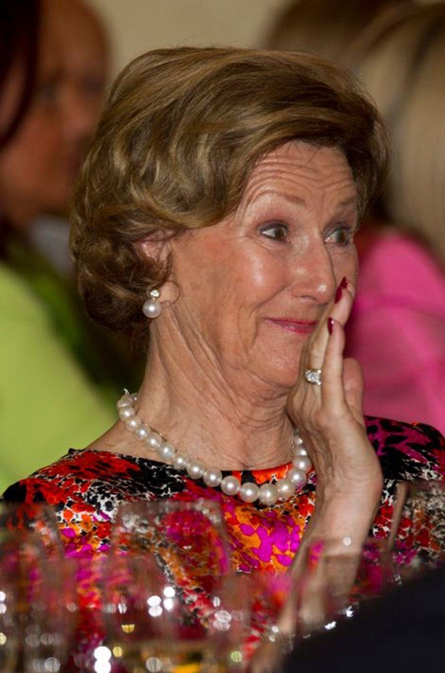 La reine Sonja de Norvège à Rome, le 7 avril 2016
