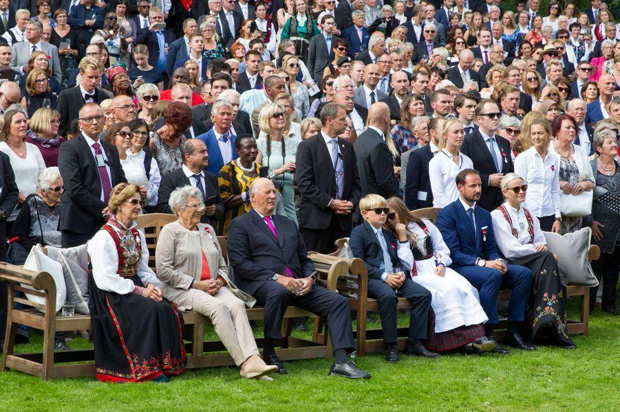La famille royale norvégienne à Oslo, le 1er septembre 2016