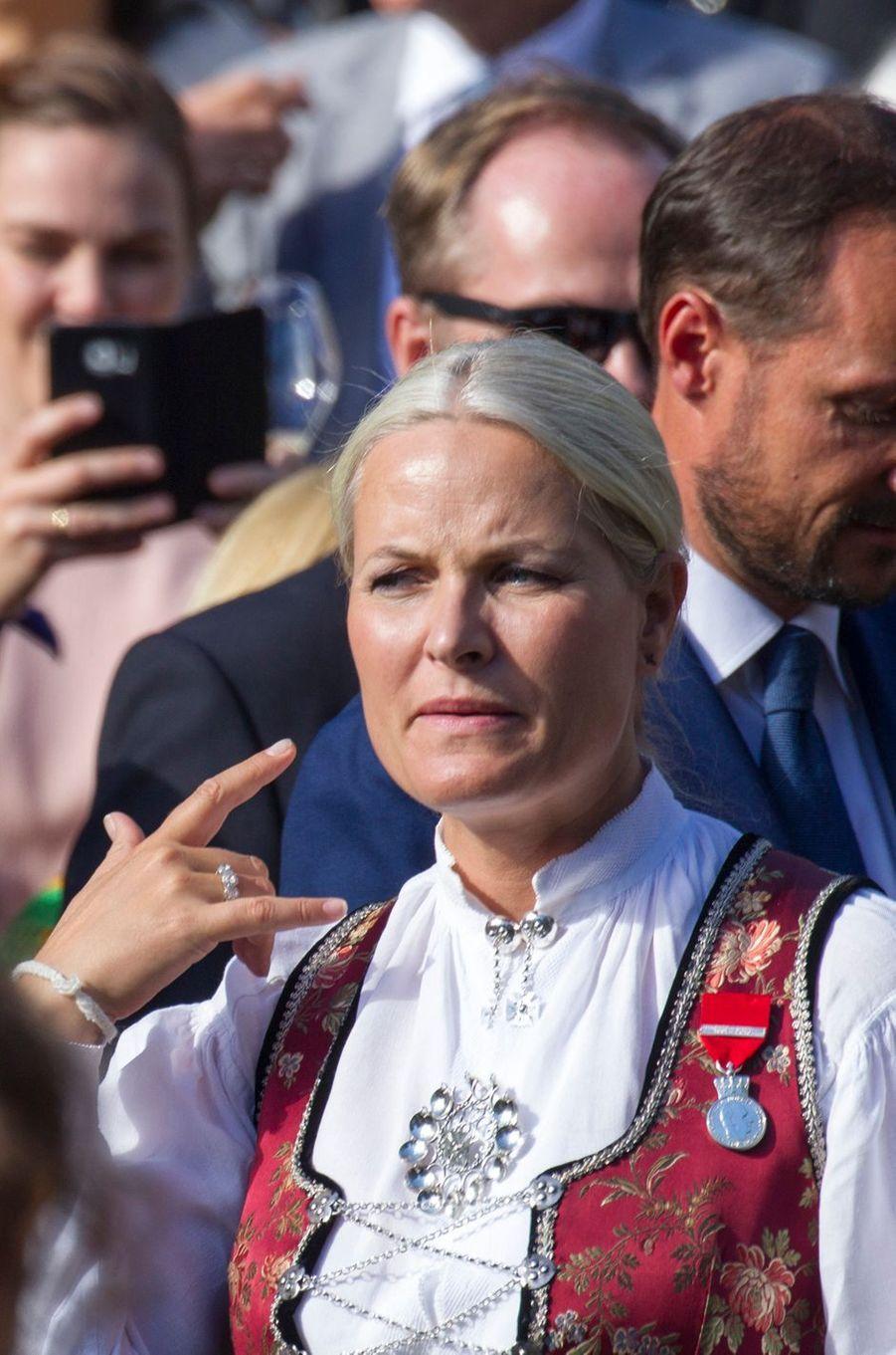 La princesse Mette-Marit de Norvège à Oslo, le 1er septembre 2016