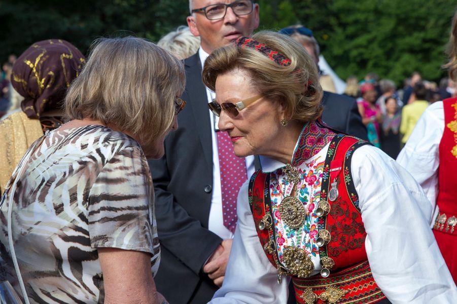 La reine Sonja de Norvège à Oslo, le 1er septembre 2016