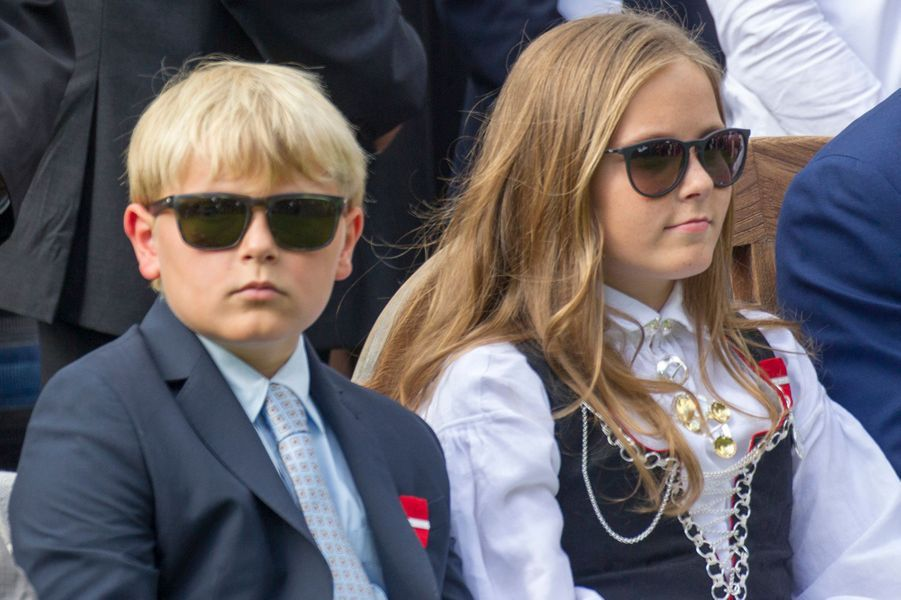 Le prince Sverre Magnus et la princesse Ingrid Alexandra de Norvège à Oslo, le 1er septembre 2016