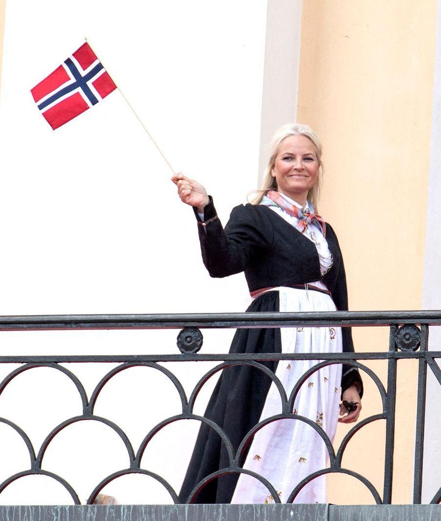 La princesse Mette-Marit de Norvège à Oslo, le 17 mai 2020