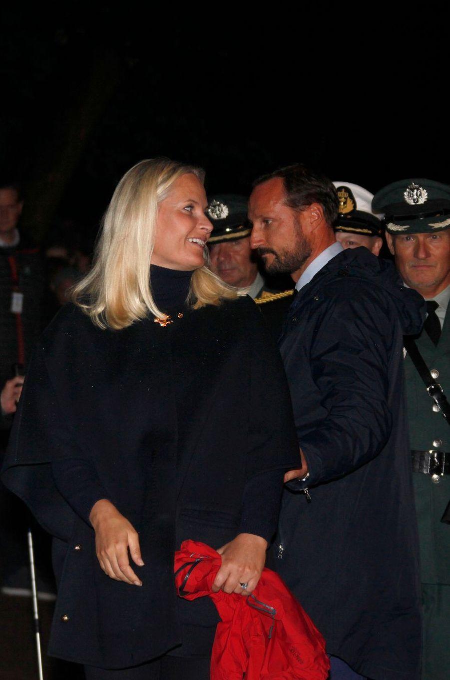 La princesse Mette-Marit et le prince Haakon de Norvège à Oslo, le 21 septembre 2016