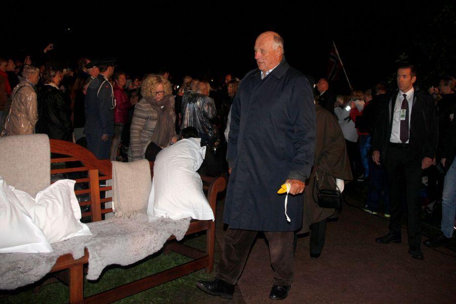 Le roi Harald V de Norvège à Oslo le 21 septembre 2016