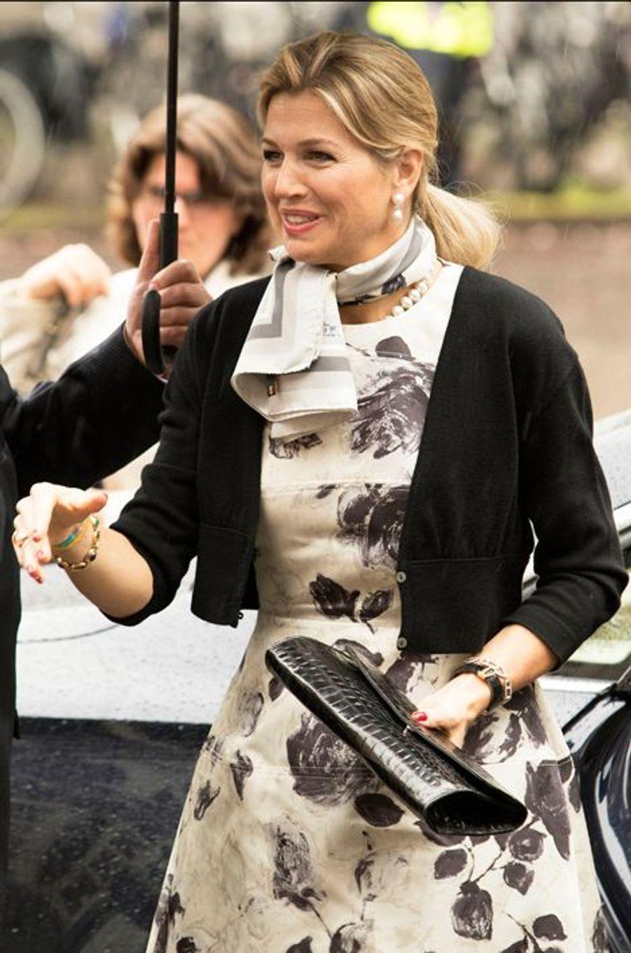 La reine Maxima des Pays-Bas à Utrecht, le 18 mai 2015