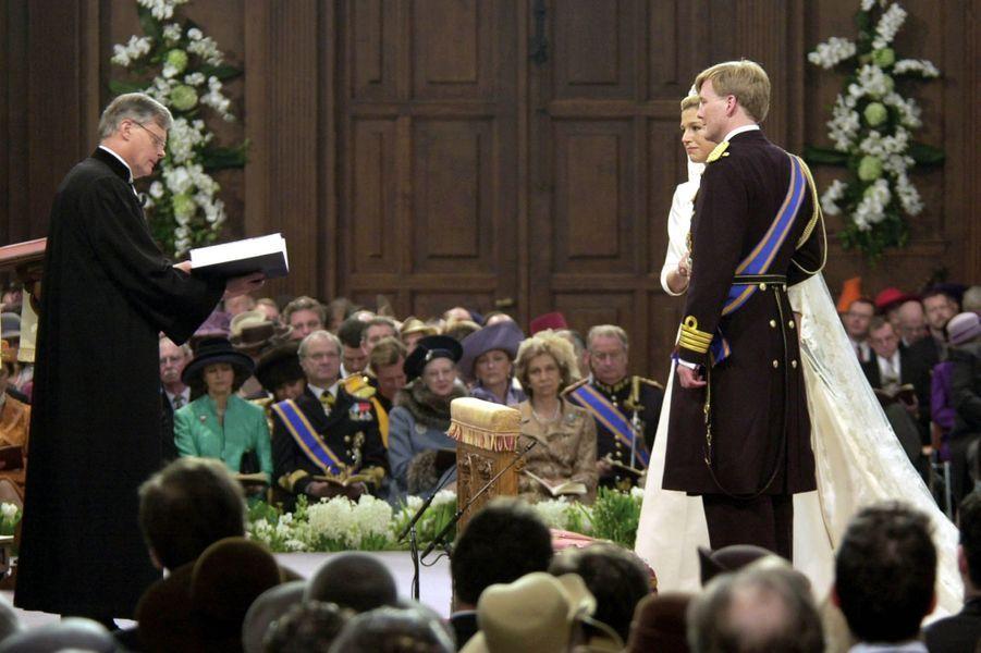 Le mariage le 2 février 2002 de Maxima Zorreguieta et du prince Willem-Alexander des Pays-Bas