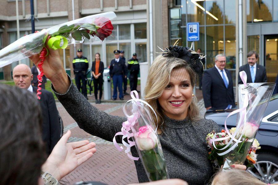 La reine Maxima des Pays-Bas dans le Limburg, le 8 octobre 2015
