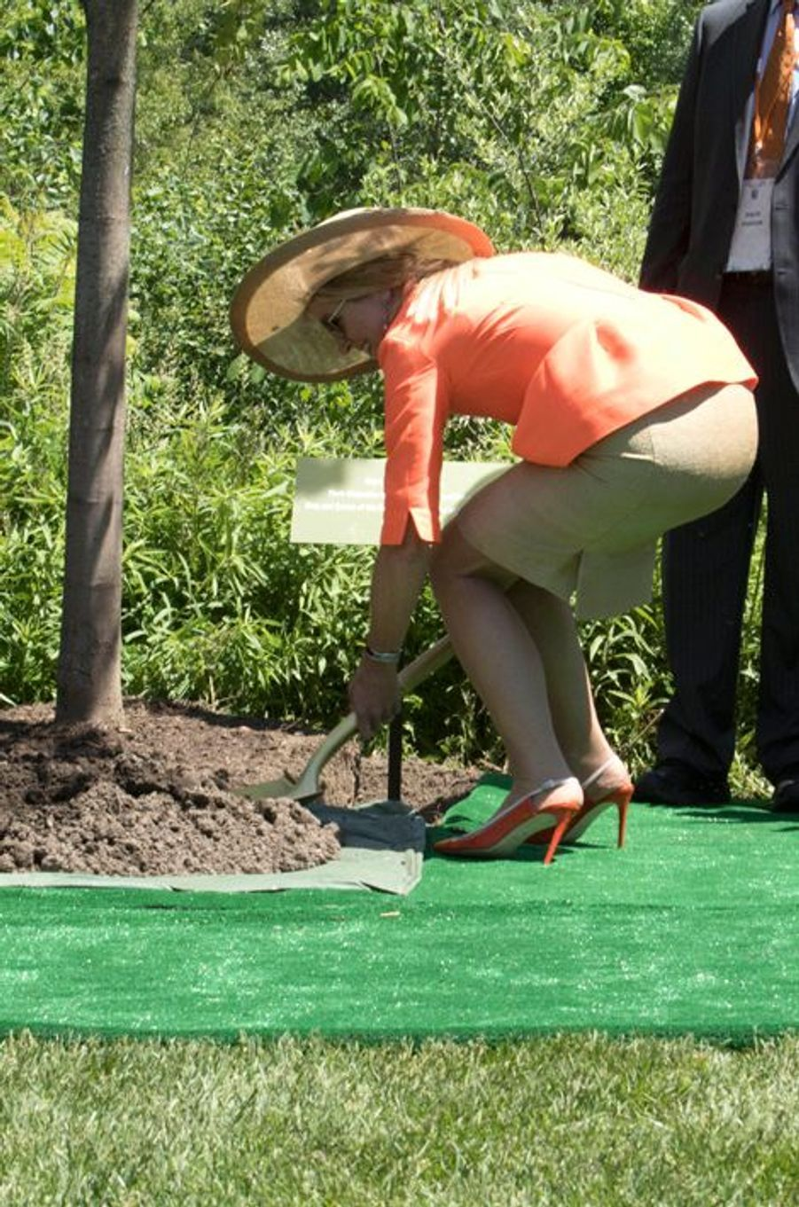 La reine Maxima au Frederik Meijer Gardens and Sculpture Park à Grand Rapids, le 2 juin 2015