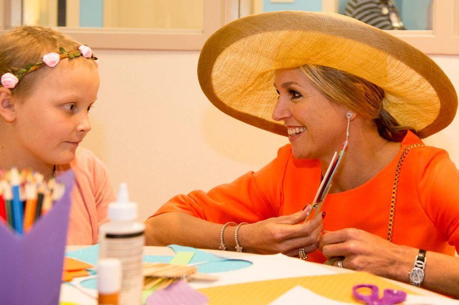 La reine Maxima des Pays-Bas au Helen DeVos Childrens Hospital à Grand Rapids, le 2 juin 2015
