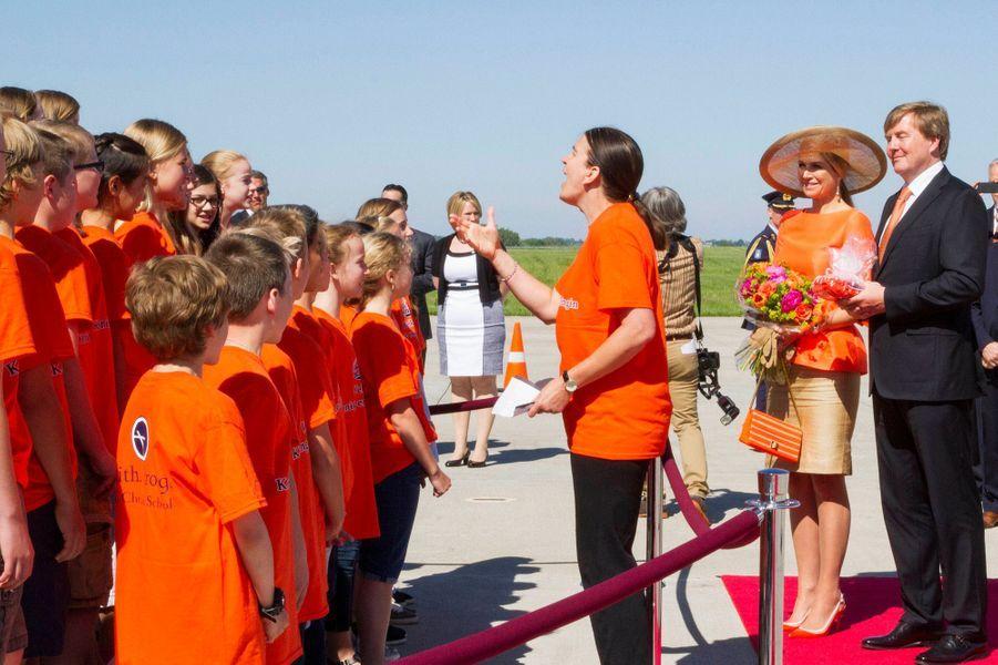 La reine Maxima et le roi Willem-Alexander à Grand Rapids, le 2 juin 2015