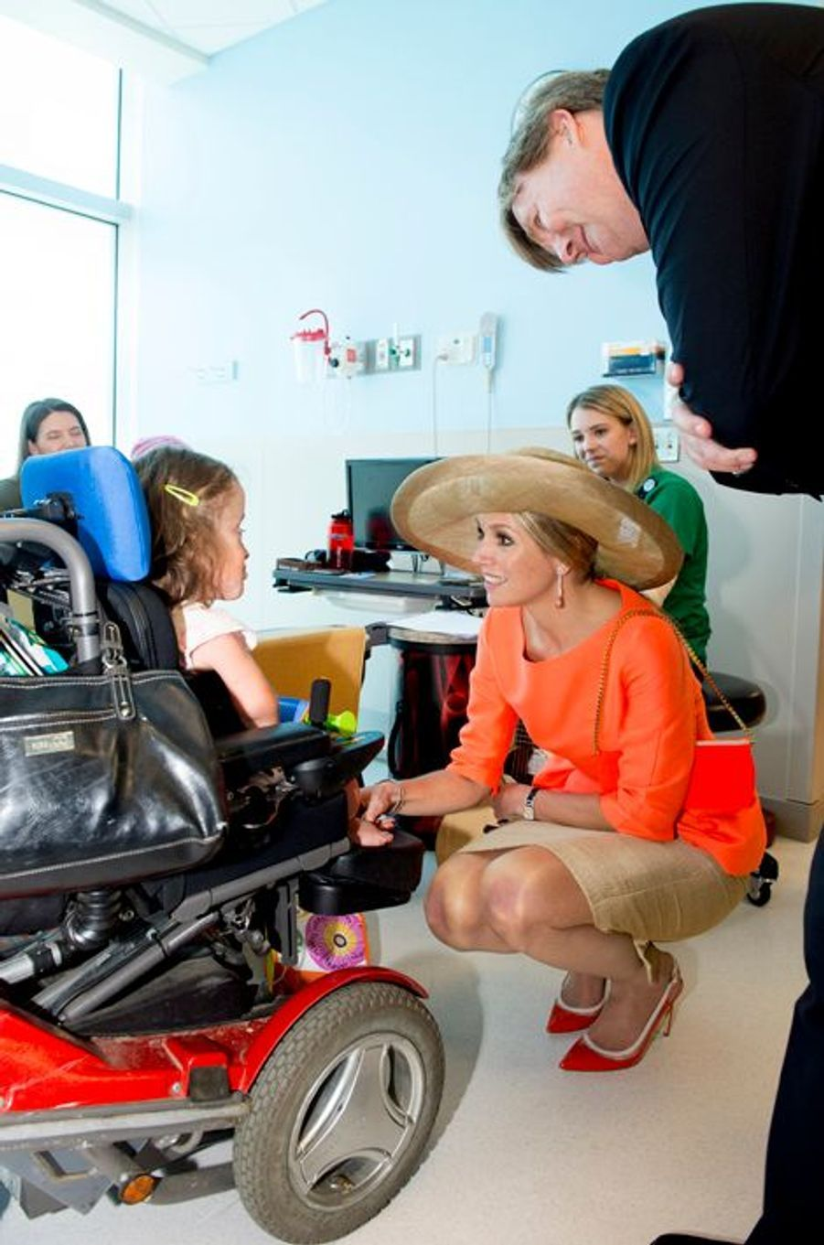 La reine Maxima et le roi Willem-Alexander au Helen DeVos Childrens Hospital à Grand Rapids, le 2 juin 2015