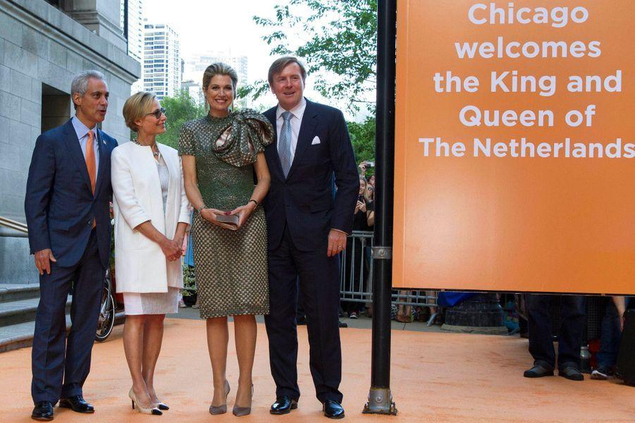 La reine Maxima et le roi Willem-Alexander des Pays-Bas à Chicago, le 2 juin 2015