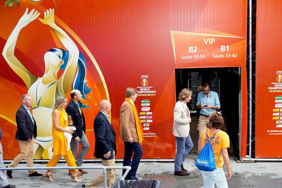 La reine Maxima et le roi Willem-Alexander des Pays-Bas à La Haye, le 5 juillet 2015