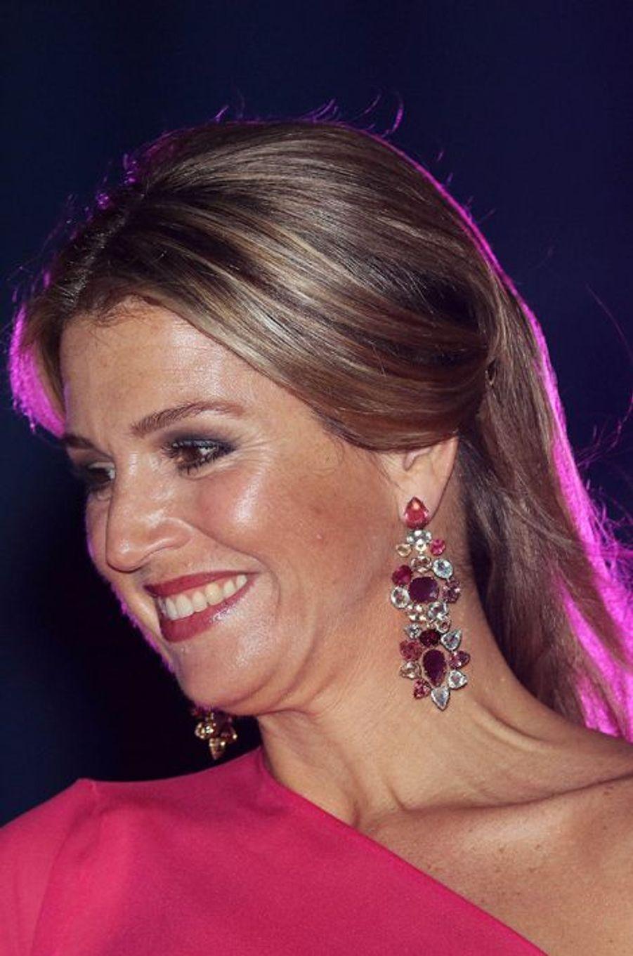 La reine Maxima des Pays-Bas à Aruba, le 1er mai 2015