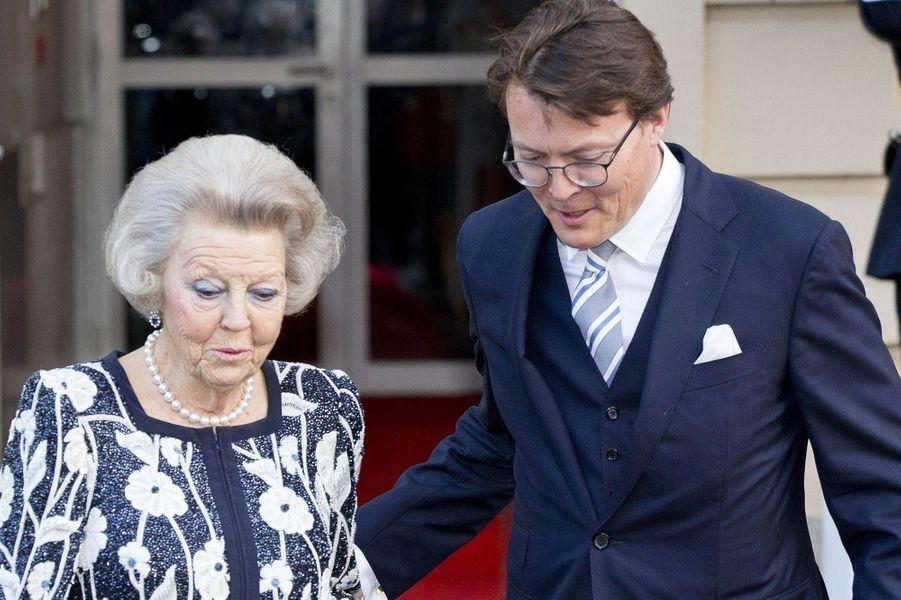 La princesse Beatrix et le prince Constantijn des Pays-Bas à La Haye, le 28 mars 2017