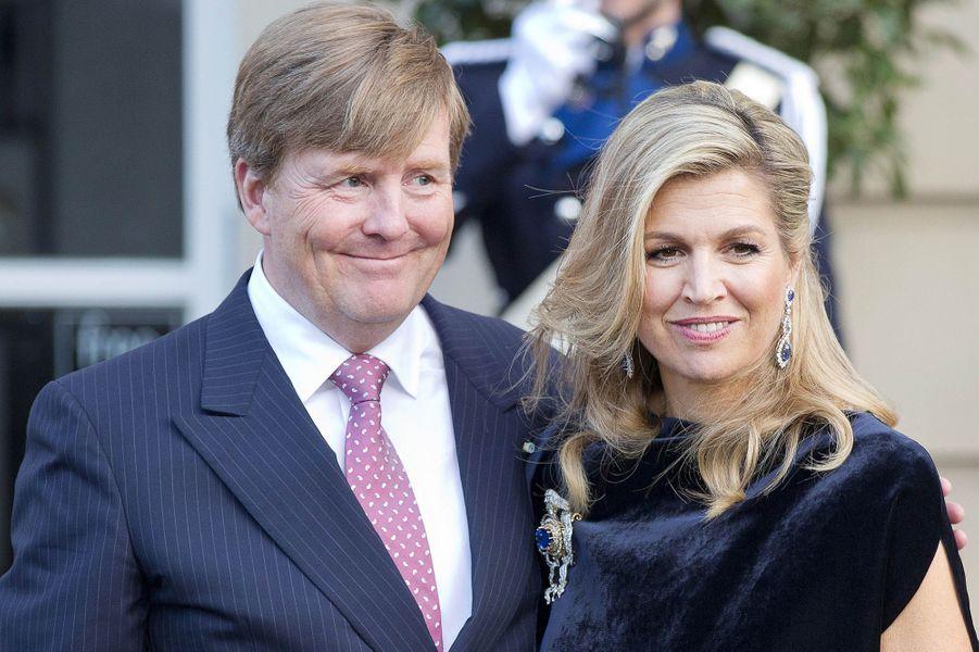 La reine Maxima et le roi Willem-Alexander des Pays-Bas à La Haye, le 28 mars 2017