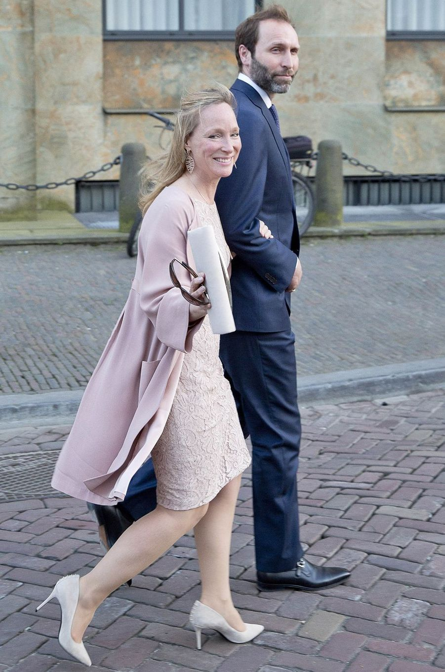 La princesse Margarita de Bourbon-Parme et son mari Tjalling Ten Cate à La Haye, le 28 mars 2017