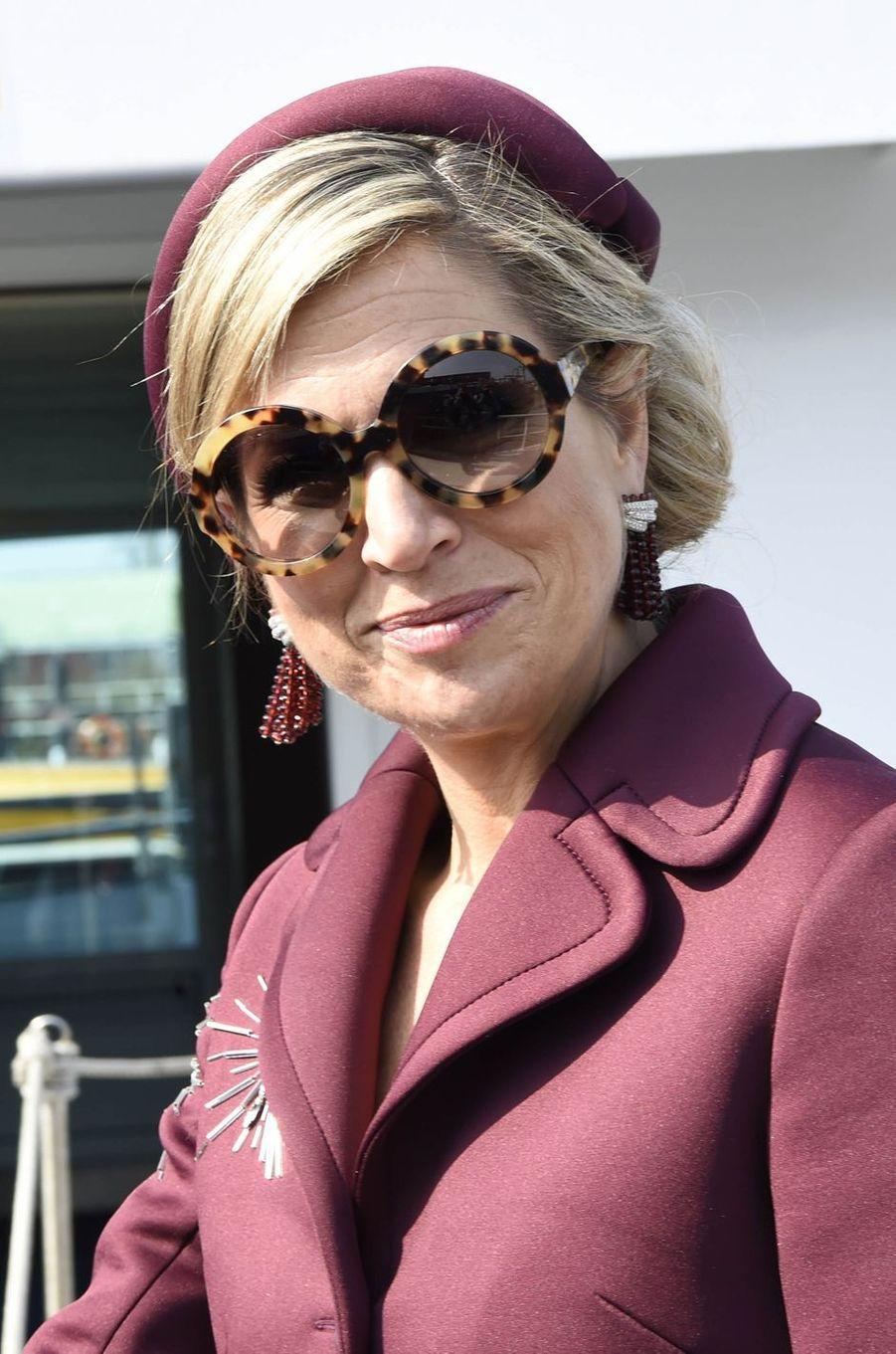 La reine Maxima des Pays-Bas à Rotterdam, le 28 mars 2017