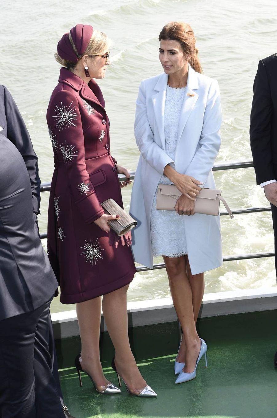 La reine Maxima des Pays-Bas et Juliana Awada à Rotterdam, le 28 mars 2017