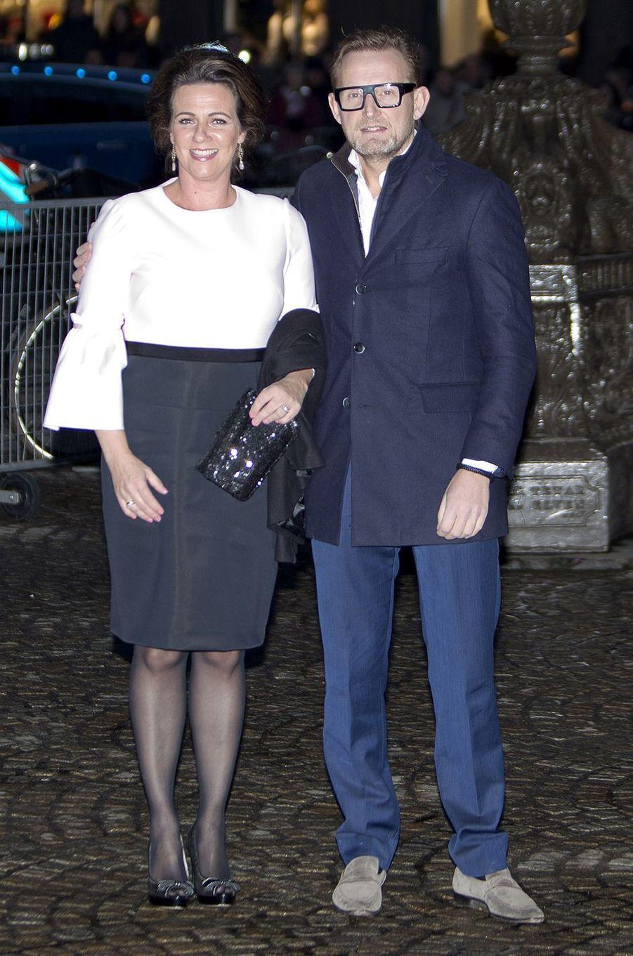 Le prince Bernhard des Pays-Bas et la princesse Annette à Amsterdam, le 3 février 2018