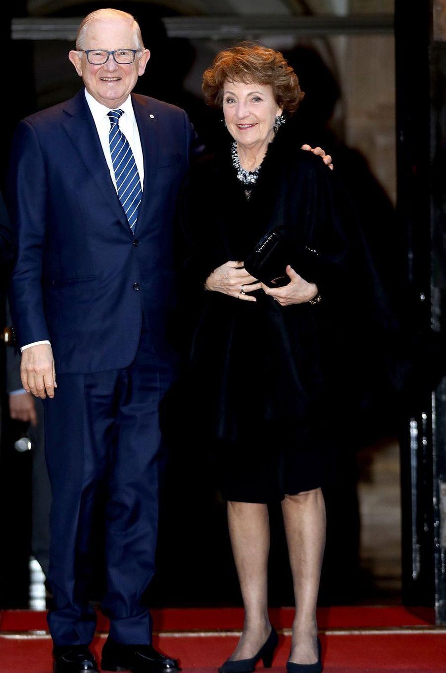 La princesse Margriet des Pays-Bas et son mari Pieter van Vollenhoven à Amsterdam, le 3 février 2018