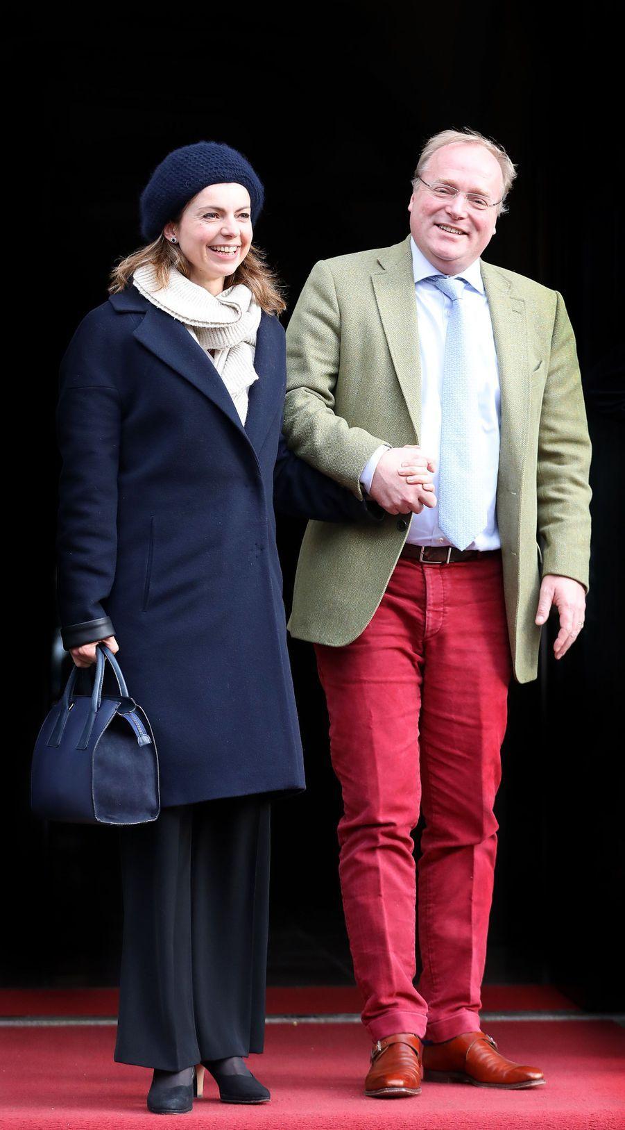 Le prince Carlos de Bourbon-Parme et la princesse Annemarie à Amsterdam, le 3 février 2018