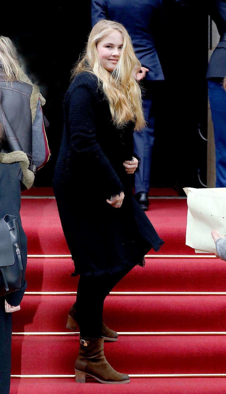 La princesse Catharina-Amalia des Pays-Bas à Amsterdam, le 3 février 2018