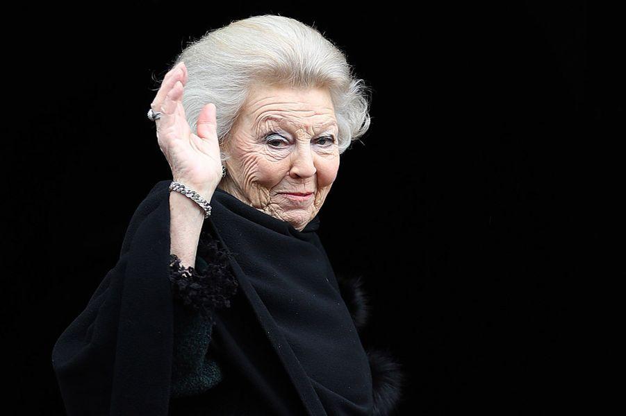 La princesse Beatrix des Pays-Bas à Amsterdam, le 3 février 2018
