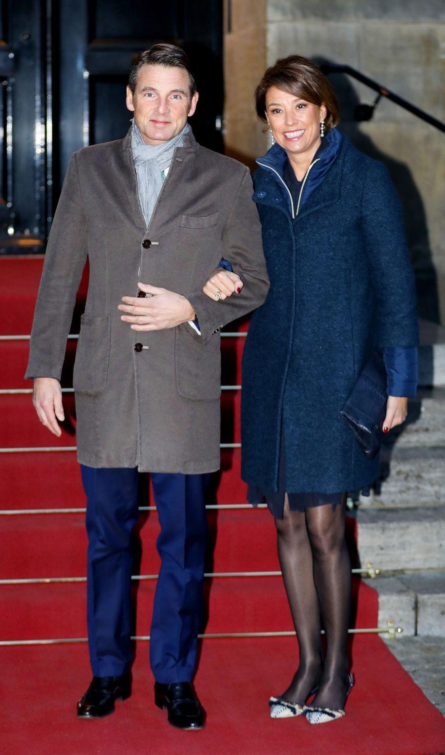 Le prince Maurits des Pays-Bas et la princesse Marilène à Amsterdam, le 3 février 2018