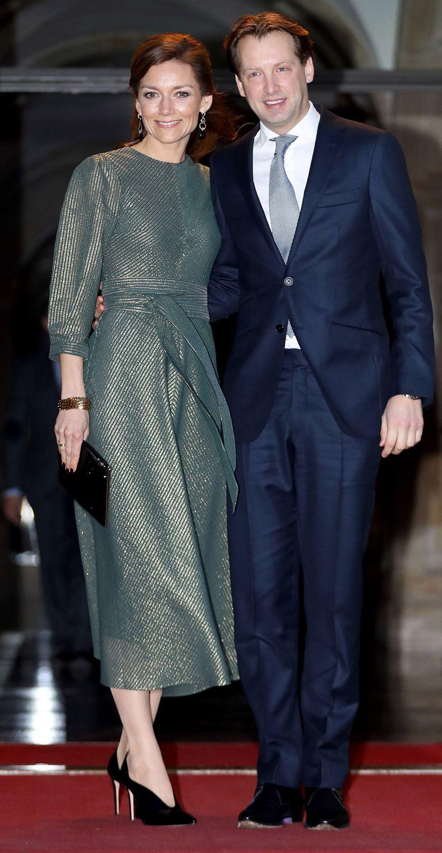 Le prince Floris des Pays-Bas et la princesse Aimée à Amsterdam, le 3 février 2018