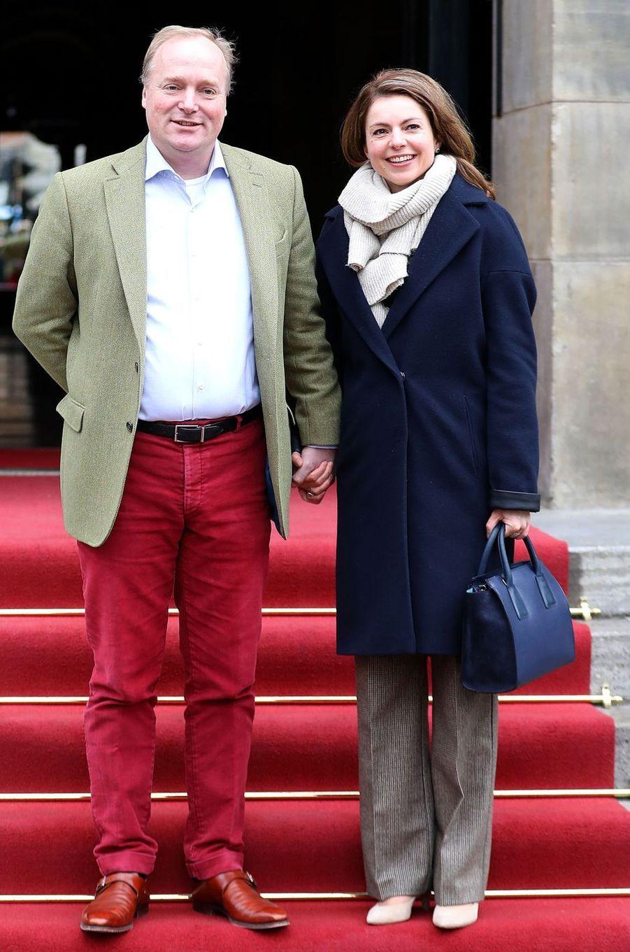 Le prince Carlos de Bourbon-Parme et la princesse Annemarie à Amsterdam, le 4 février 2018