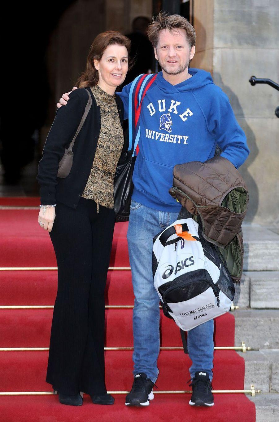 Le prince Pieter-Christiaan des Pays-Bas et la princesse Anita à Amsterdam, le 4 février 2018