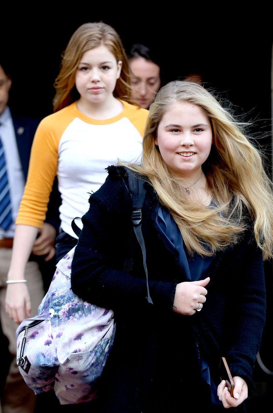 Les princesses Catharina-Amalia et Alexia à Amsterdam, le 4 février 2018