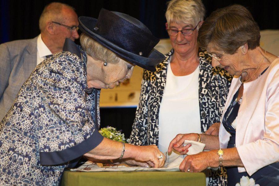 L'ex-reine Beatrix des Pays-Bas à Biddinghuizen dans le Flevoland, le 14 juin 2018