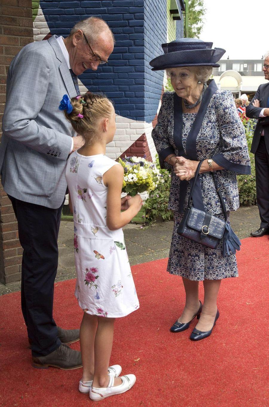 L'ex-reine Beatrix des Pays-Bas dans le village de Biddinghuizen dans le Flevoland, le 14 juin 2018