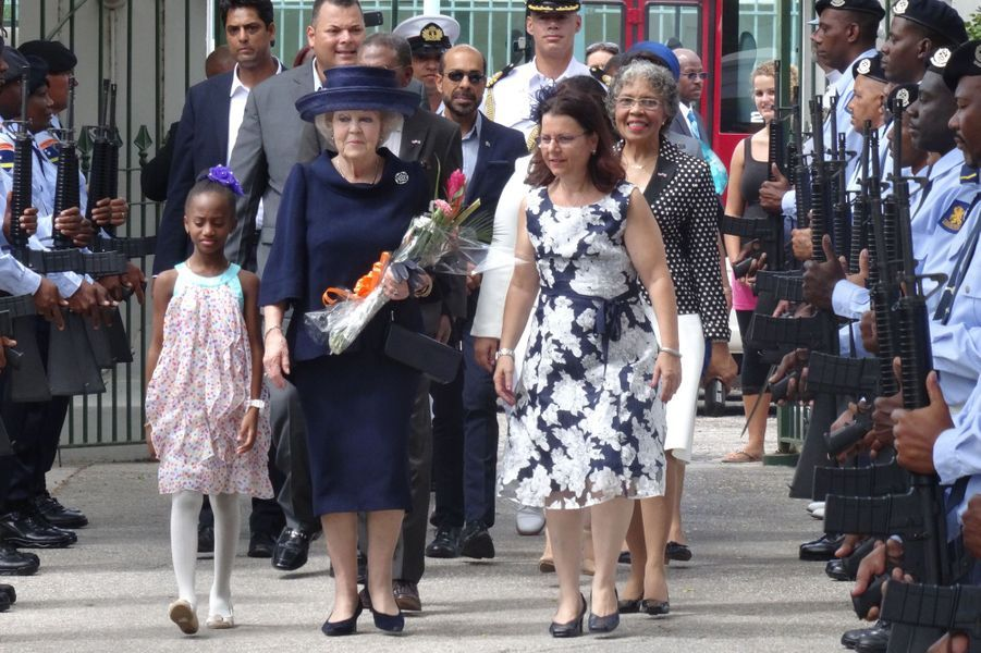 L'ex-reine Beatrix des Pays-Bas sur l'île de Curaçao, le 2 mai 2015