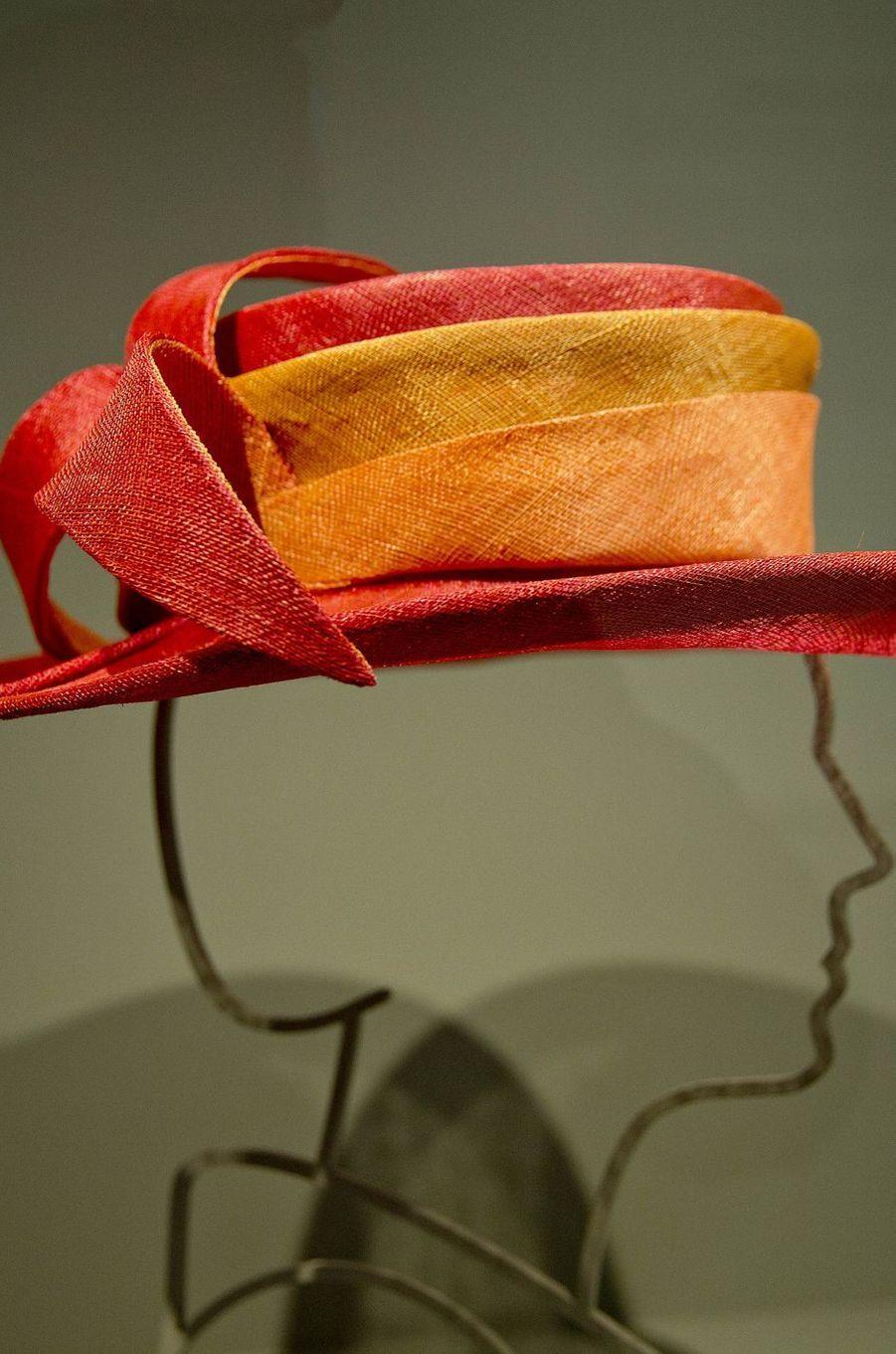 Exposition des chapeaux de la reine Beatrix des Pays-Bas au Paleis Het Loo, à Apeldoorn, le 22 mars 2017