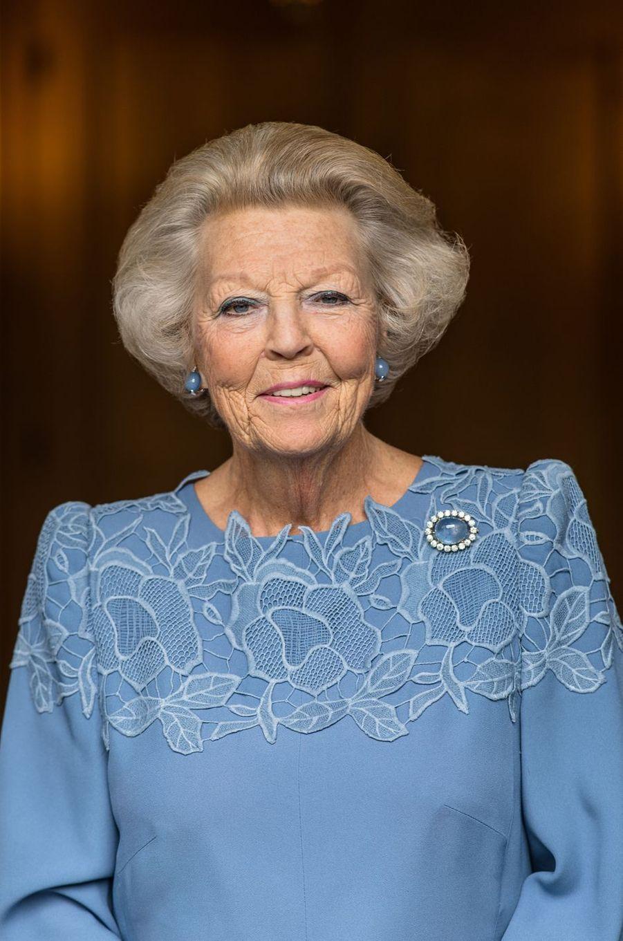 Portrait de l'ex-reine Beatrix des Pays-Bas à l'automne 2017. Photo diffusée pour ses 80 ans, le 31 janvier 2018