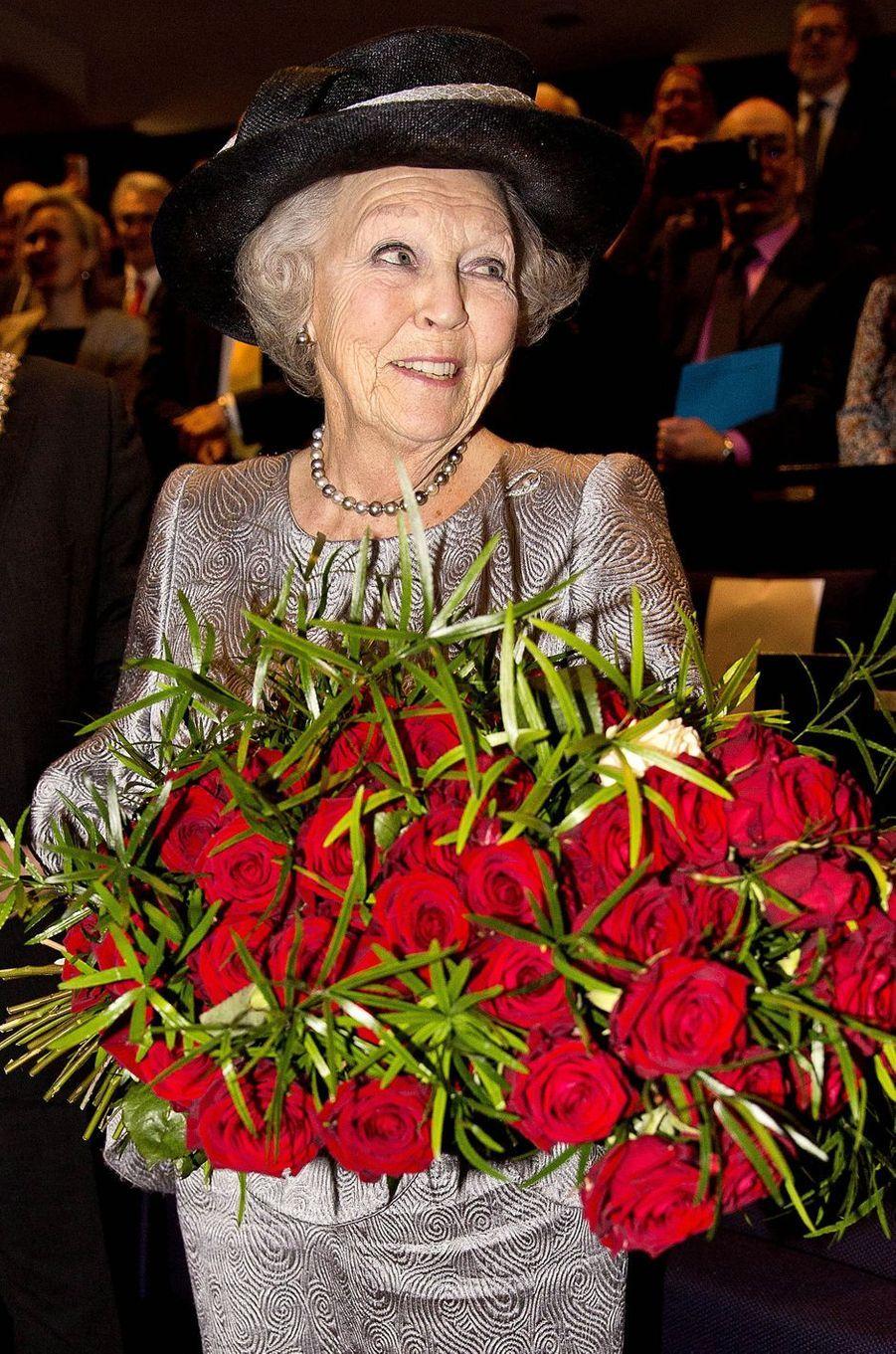 L'ex-reine Beatrix des Pays-Bas à Utrecht, le 22 janvier 2018