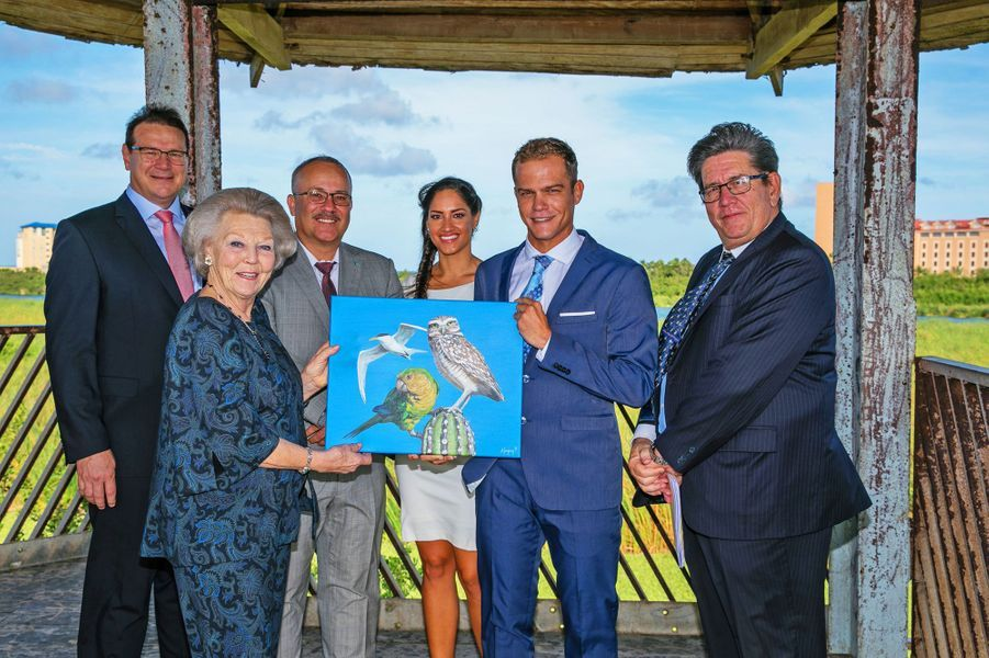 La princesse Beatrix des Pays-Bas à Aruba, le 31 mars 2017