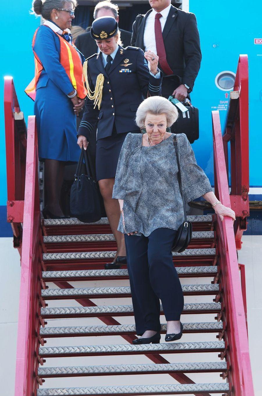 La princesse Beatrix des Pays-Bas à Aruba, le 29 mars 2017