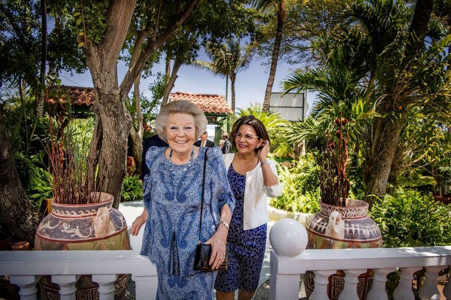 La princesse Beatrix des Pays-Bas à Aruba, le 1er avril 2017