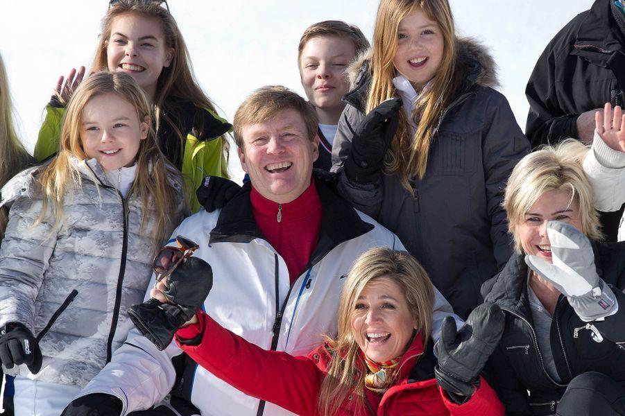La famille royale des Pays-Bas à Lech, le 22 février 2016