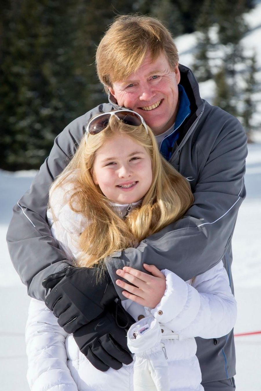 La princesse Catharina-Amalia en vacances de ski en Autriche en février 2015