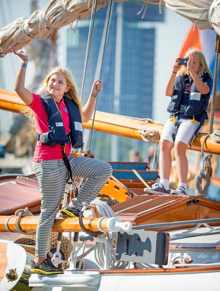 La princesse Catharina-Amalia en vacances en août 2015